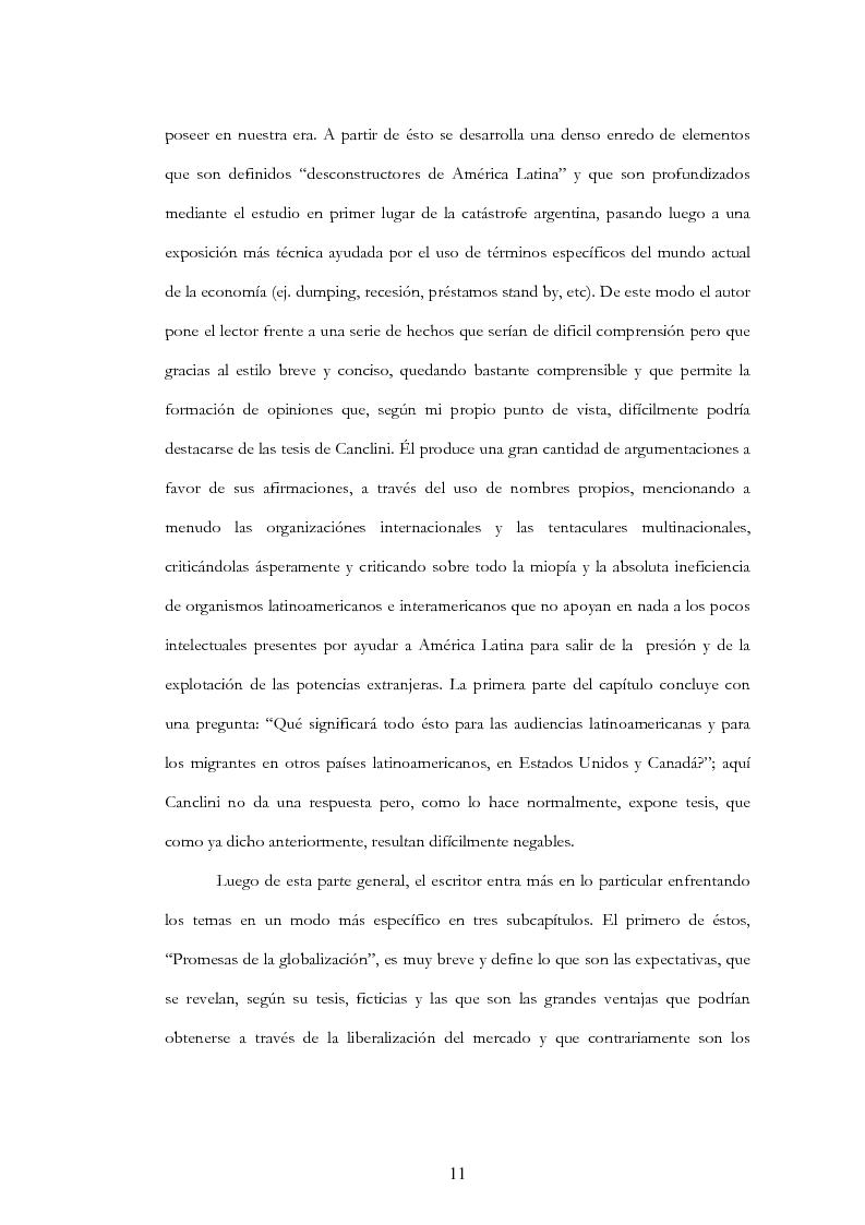 """Anteprima della tesi: Anàlisis, comentario y traducciòn de """"Latinoamericanos buscando lugar en este siglo"""" de Néstor Garcìa Canclini, Pagina 10"""