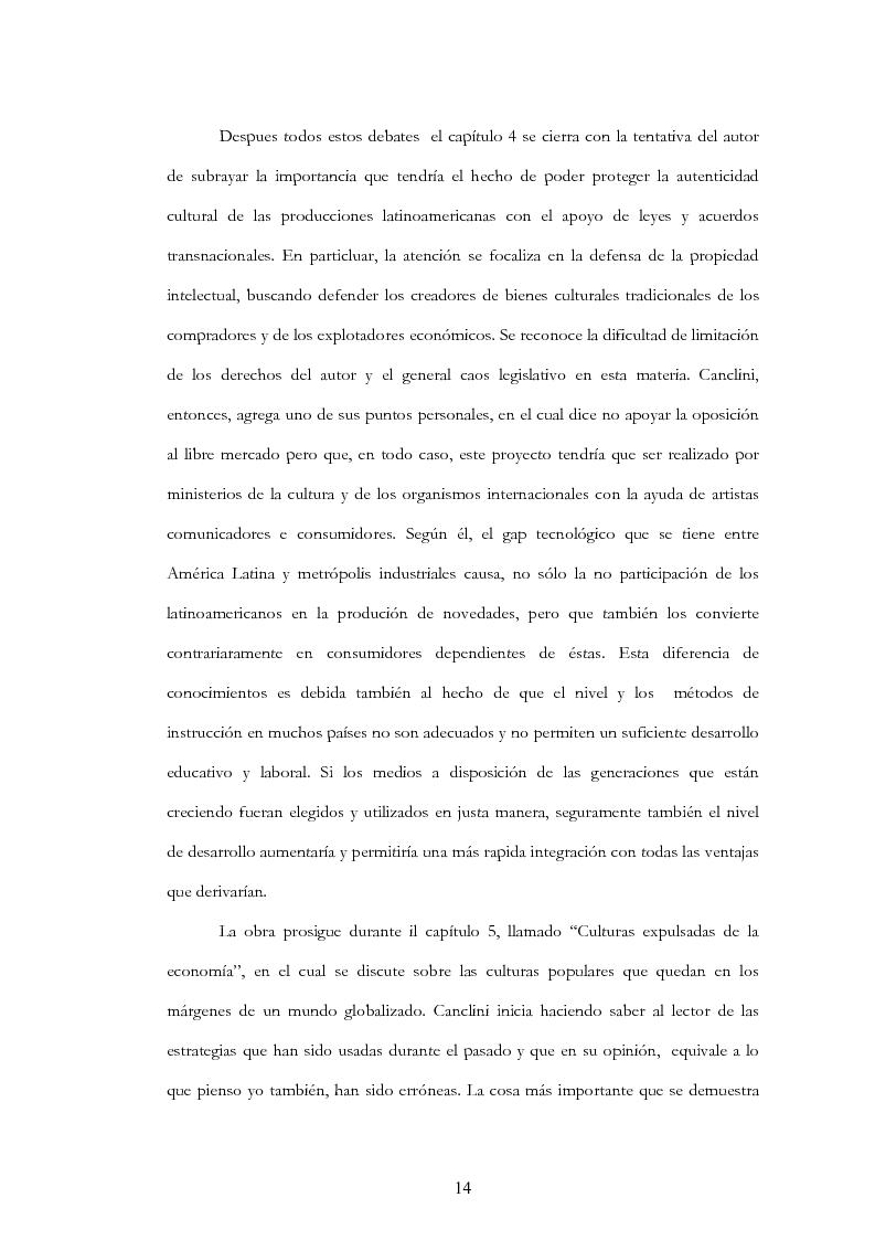 """Anteprima della tesi: Anàlisis, comentario y traducciòn de """"Latinoamericanos buscando lugar en este siglo"""" de Néstor Garcìa Canclini, Pagina 13"""
