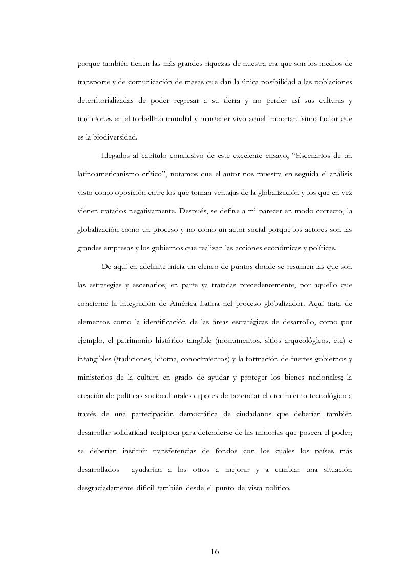 """Anteprima della tesi: Anàlisis, comentario y traducciòn de """"Latinoamericanos buscando lugar en este siglo"""" de Néstor Garcìa Canclini, Pagina 15"""