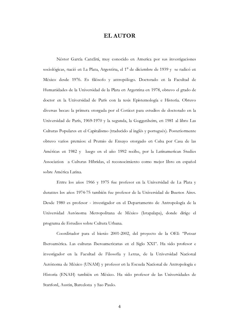 """Anteprima della tesi: Anàlisis, comentario y traducciòn de """"Latinoamericanos buscando lugar en este siglo"""" de Néstor Garcìa Canclini, Pagina 3"""