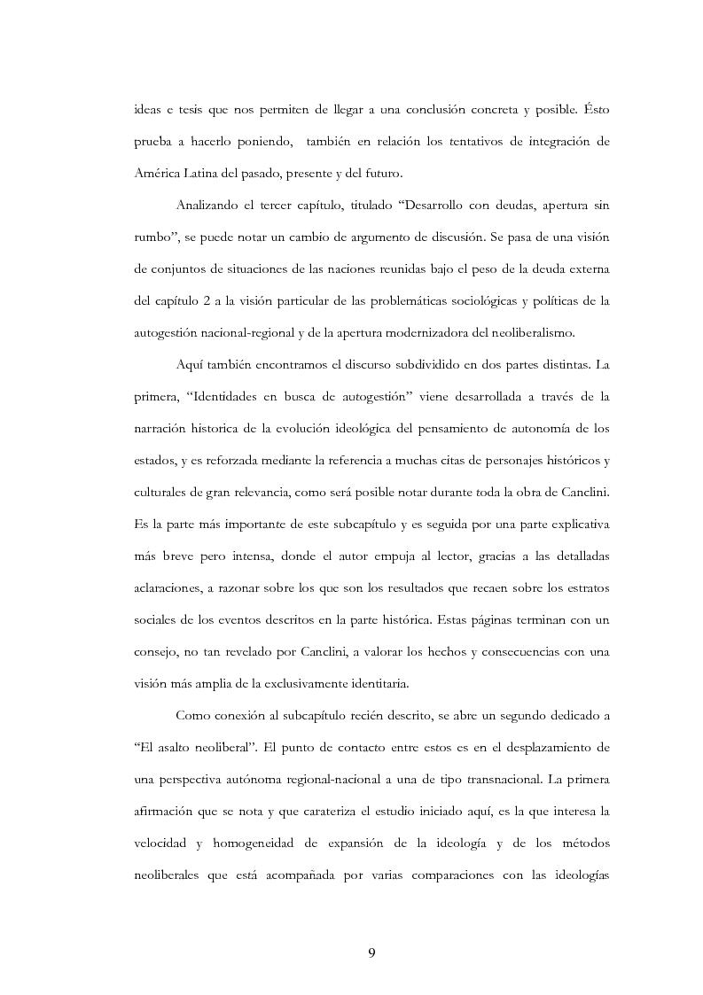 """Anteprima della tesi: Anàlisis, comentario y traducciòn de """"Latinoamericanos buscando lugar en este siglo"""" de Néstor Garcìa Canclini, Pagina 8"""