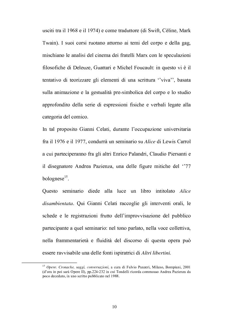 Anteprima della tesi: Un testo contro la solitudine. Pier Vittorio Tondelli scrittore postmoderno., Pagina 10