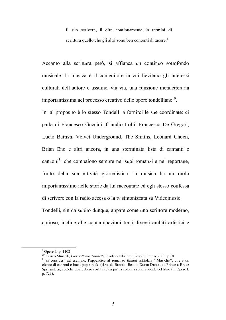 Anteprima della tesi: Un testo contro la solitudine. Pier Vittorio Tondelli scrittore postmoderno., Pagina 5