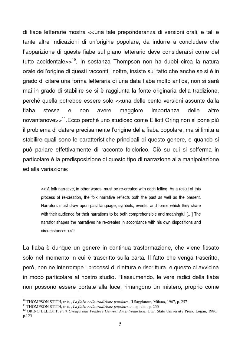 Anteprima della tesi: Tra due mondi: dalla fiaba popolare alle riscritture di Angela Carter in The Bloody Chamber and Other Stories, Pagina 5