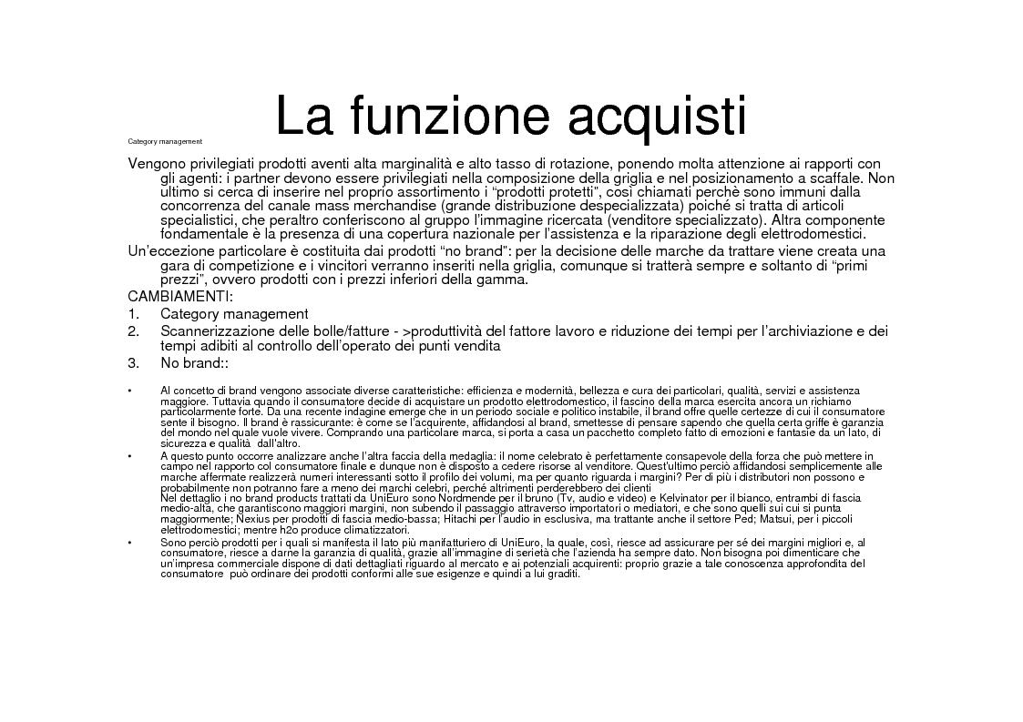 Anteprima della tesi: La grande distribuzione specializzata nell'elettronica di consumo. Il caso UniEuro - Dixons., Pagina 8
