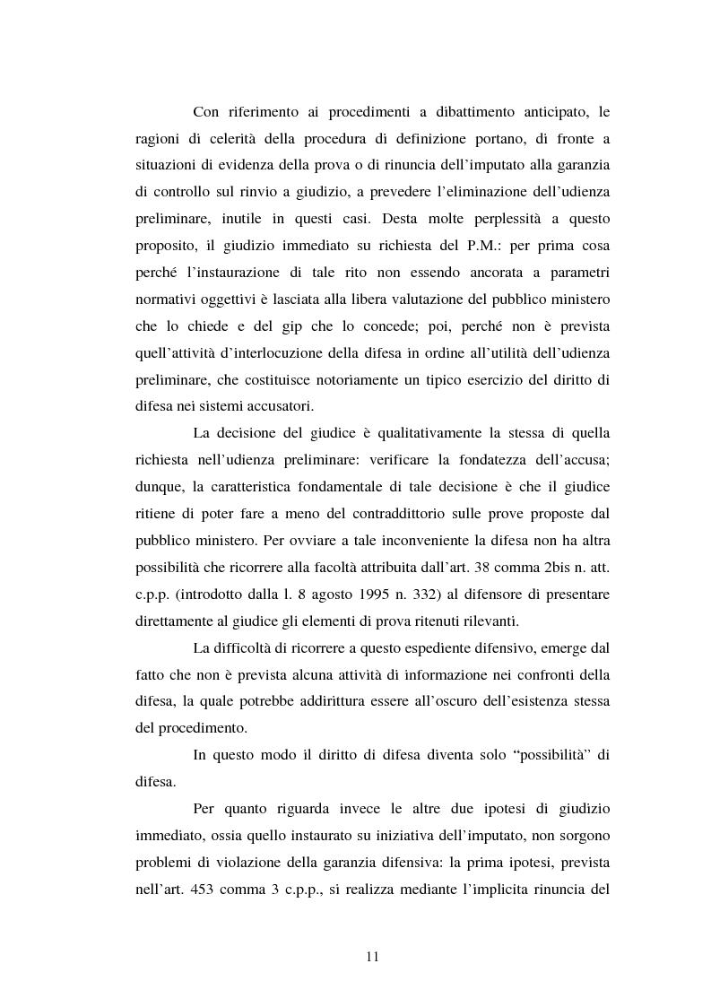 Anteprima della tesi: Strategie difensive e udienza preliminare, Pagina 11