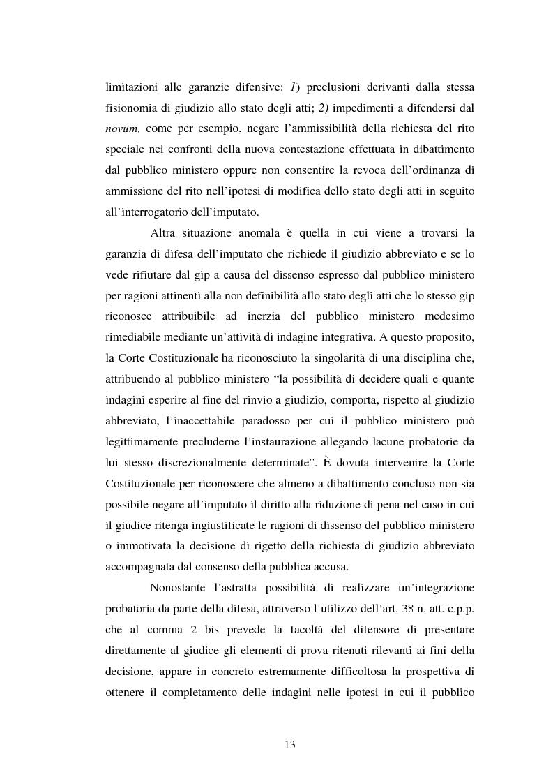 Anteprima della tesi: Strategie difensive e udienza preliminare, Pagina 13