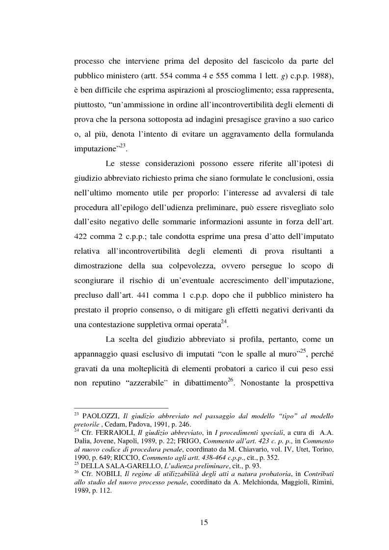 Anteprima della tesi: Strategie difensive e udienza preliminare, Pagina 15