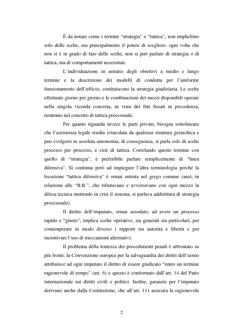 Anteprima della tesi: Strategie difensive e udienza preliminare, Pagina 2