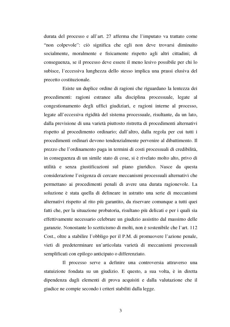 Anteprima della tesi: Strategie difensive e udienza preliminare, Pagina 3