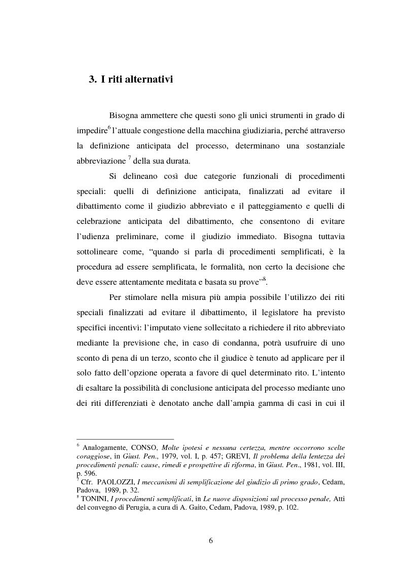 Anteprima della tesi: Strategie difensive e udienza preliminare, Pagina 6