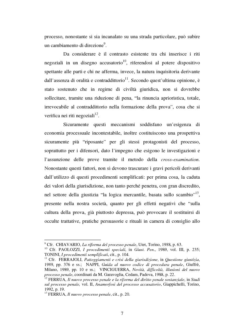 Anteprima della tesi: Strategie difensive e udienza preliminare, Pagina 7