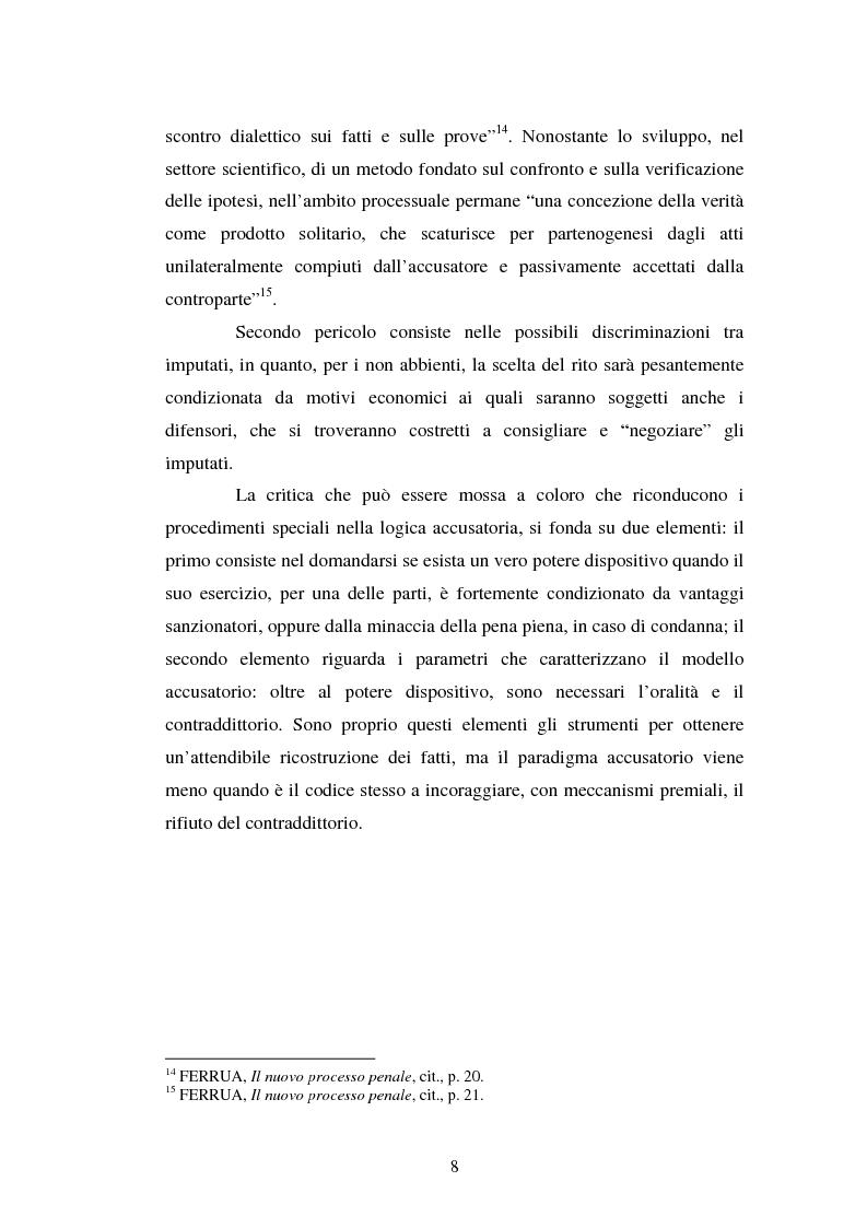 Anteprima della tesi: Strategie difensive e udienza preliminare, Pagina 8