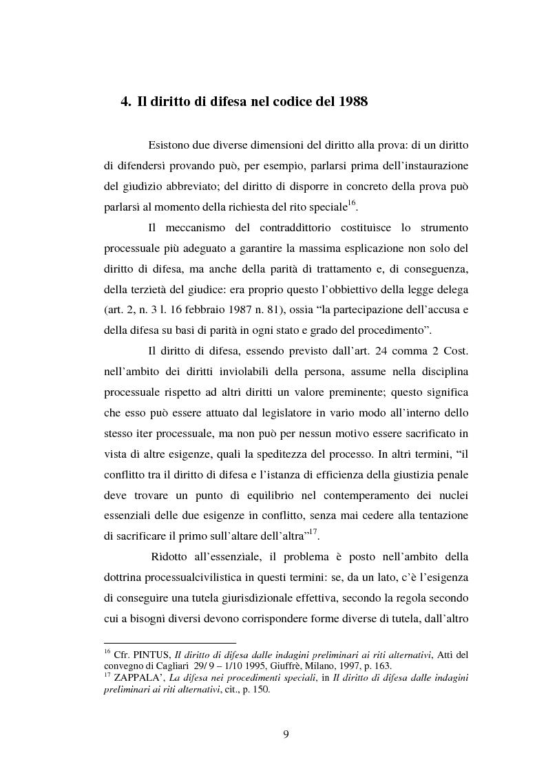 Anteprima della tesi: Strategie difensive e udienza preliminare, Pagina 9