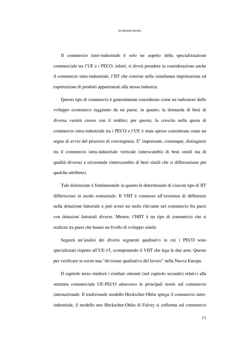 Anteprima della tesi: Le conseguenze sul mercato del lavoro dell'allargamento ad Est dell'Unione Europea, Pagina 5