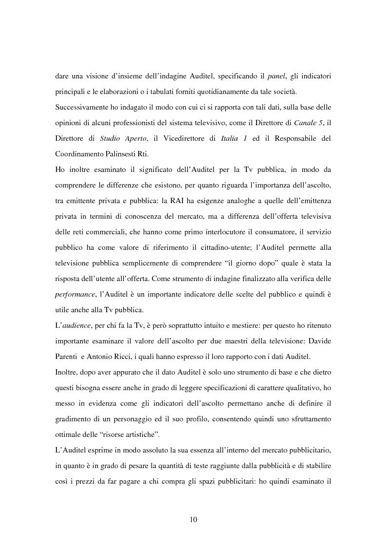 Anteprima della tesi: Costruzione dei palinsesti e marketing televisivo, Pagina 10