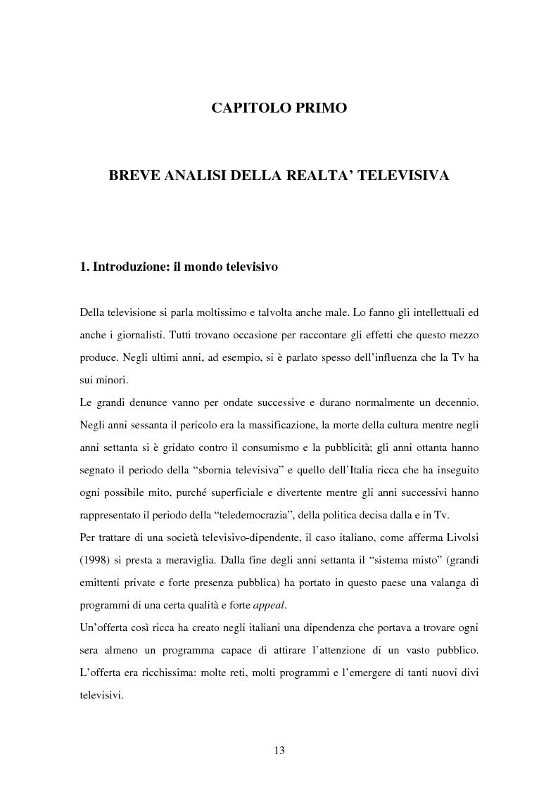 Anteprima della tesi: Costruzione dei palinsesti e marketing televisivo, Pagina 13