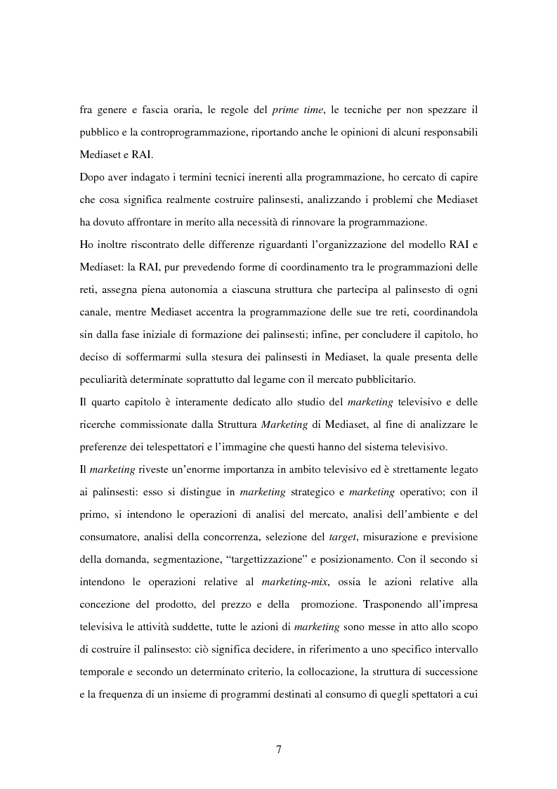 Anteprima della tesi: Costruzione dei palinsesti e marketing televisivo, Pagina 7