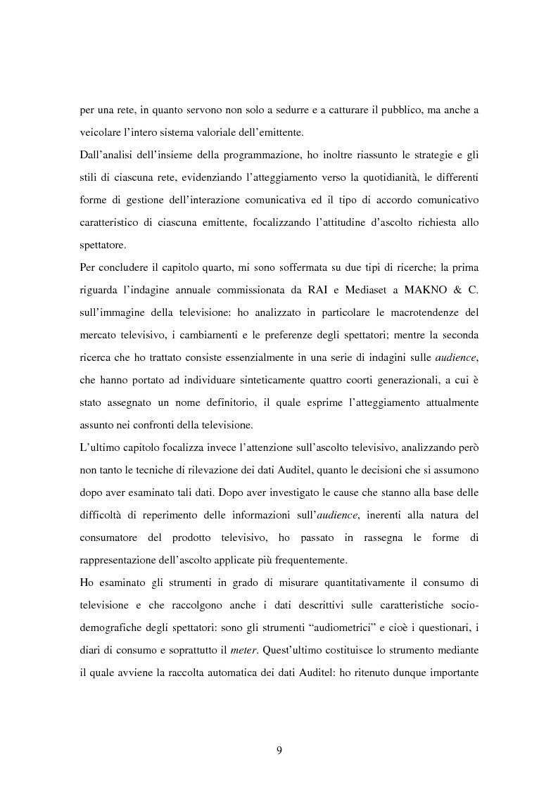 Anteprima della tesi: Costruzione dei palinsesti e marketing televisivo, Pagina 9
