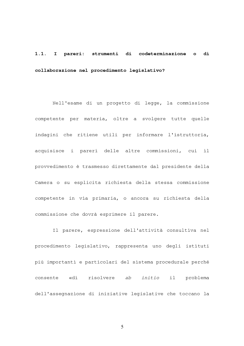 Anteprima della tesi: L'attività consultiva delle commissioni nel procedimento legislativo, Pagina 1