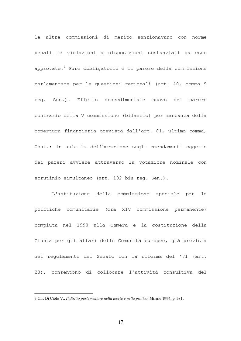 Anteprima della tesi: L'attività consultiva delle commissioni nel procedimento legislativo, Pagina 13