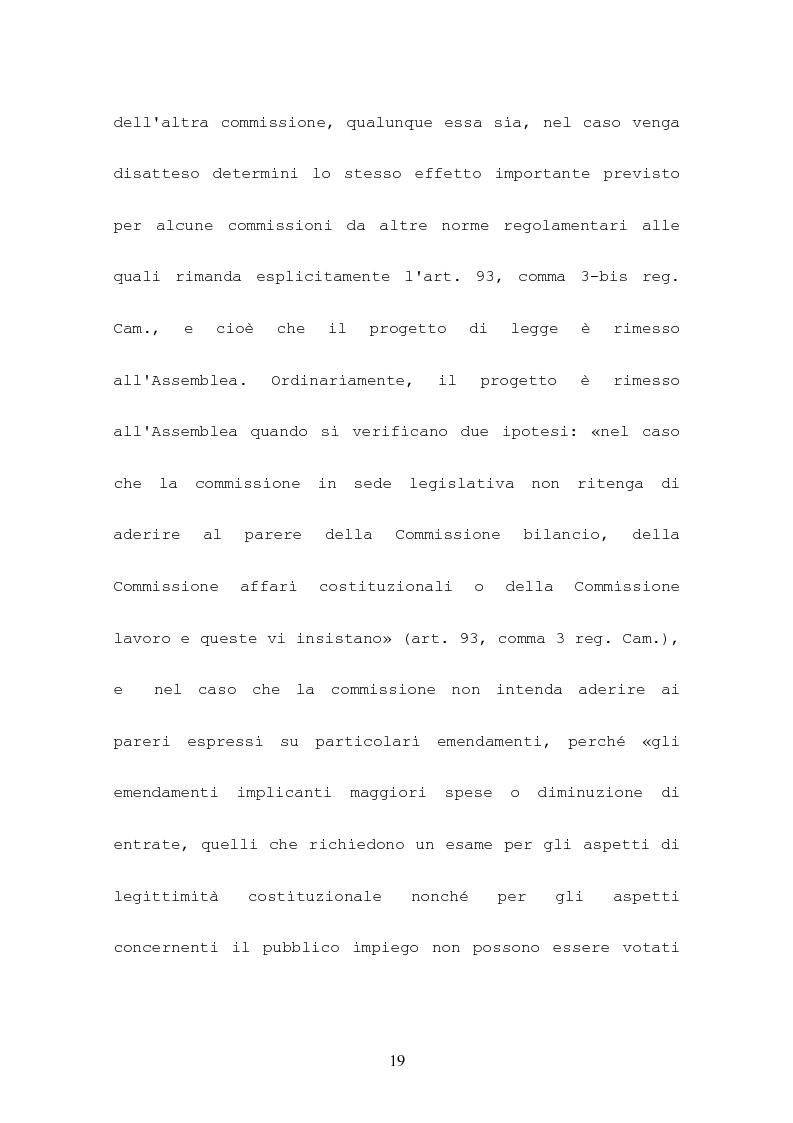 Anteprima della tesi: L'attività consultiva delle commissioni nel procedimento legislativo, Pagina 15