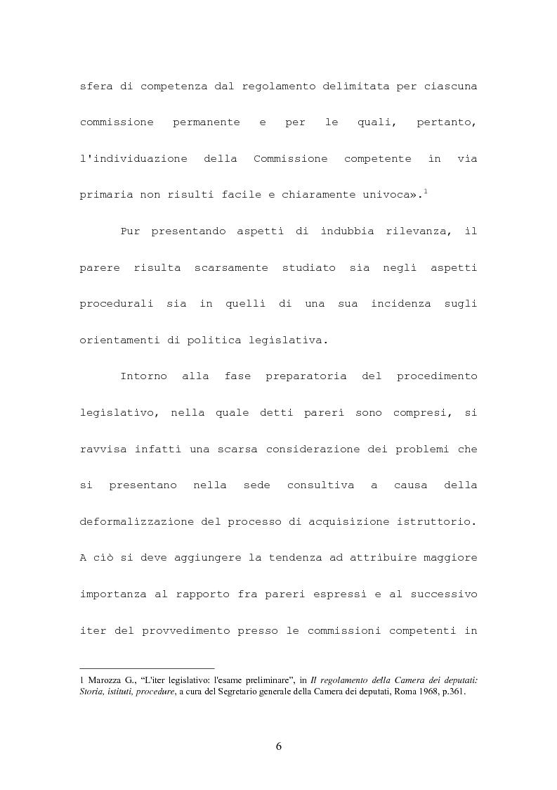 Anteprima della tesi: L'attività consultiva delle commissioni nel procedimento legislativo, Pagina 2