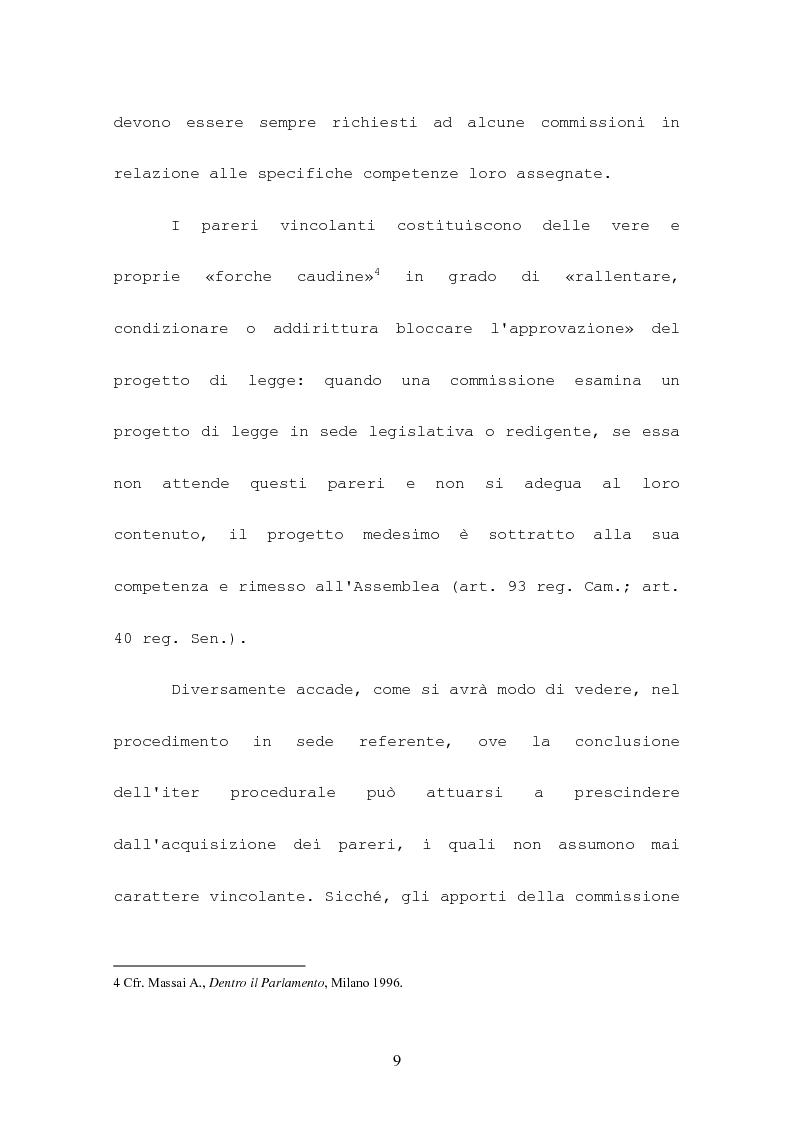 Anteprima della tesi: L'attività consultiva delle commissioni nel procedimento legislativo, Pagina 5