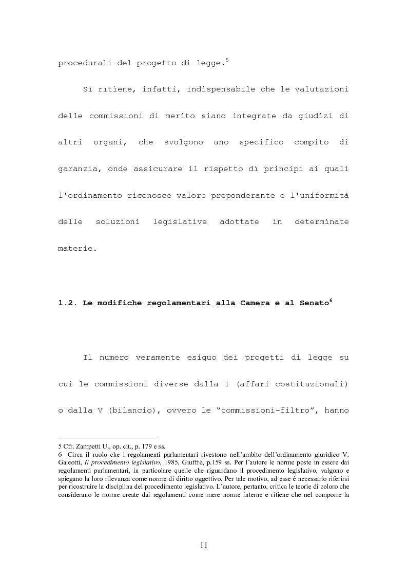 Anteprima della tesi: L'attività consultiva delle commissioni nel procedimento legislativo, Pagina 7