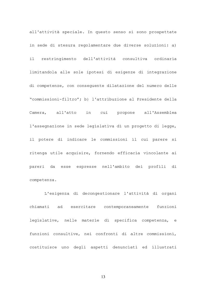 Anteprima della tesi: L'attività consultiva delle commissioni nel procedimento legislativo, Pagina 9