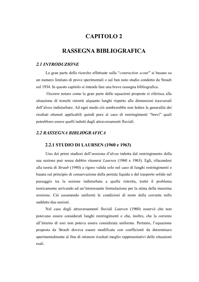 Anteprima della tesi: Indagine sperimentale sull'evoluzione morfologica di un alveo fluviale soggetto a restringimento, Pagina 13