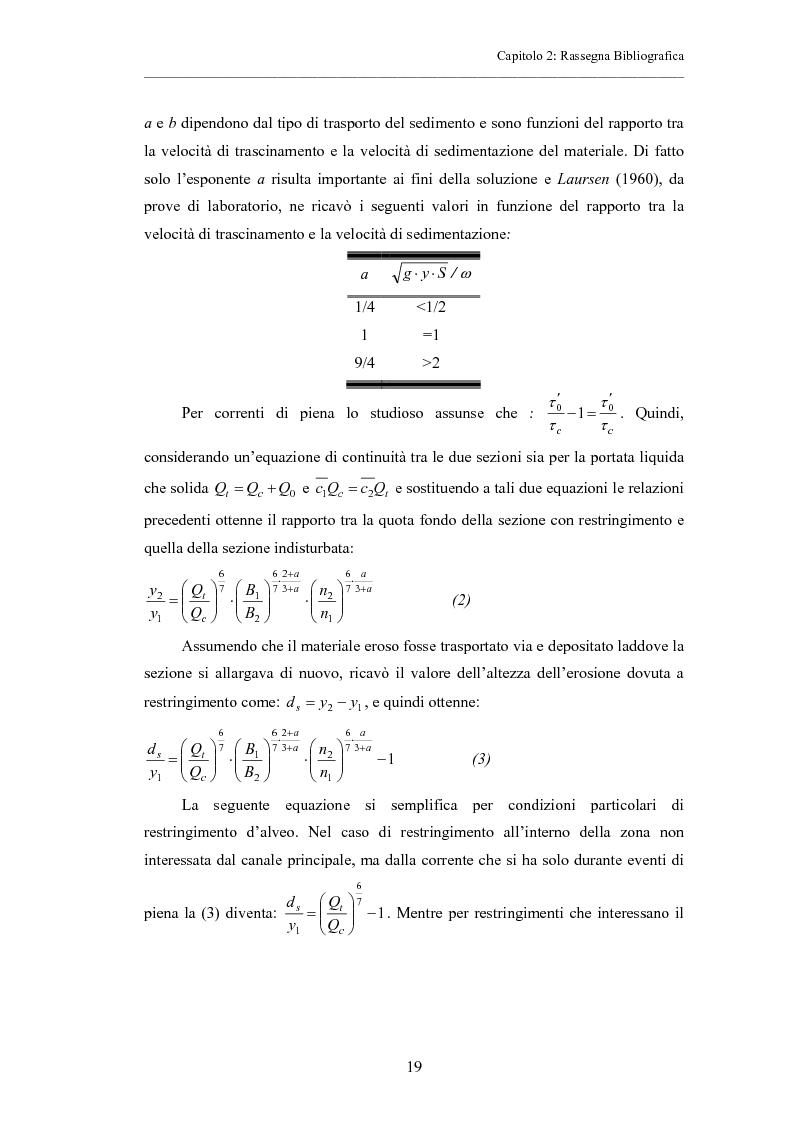 Anteprima della tesi: Indagine sperimentale sull'evoluzione morfologica di un alveo fluviale soggetto a restringimento, Pagina 15