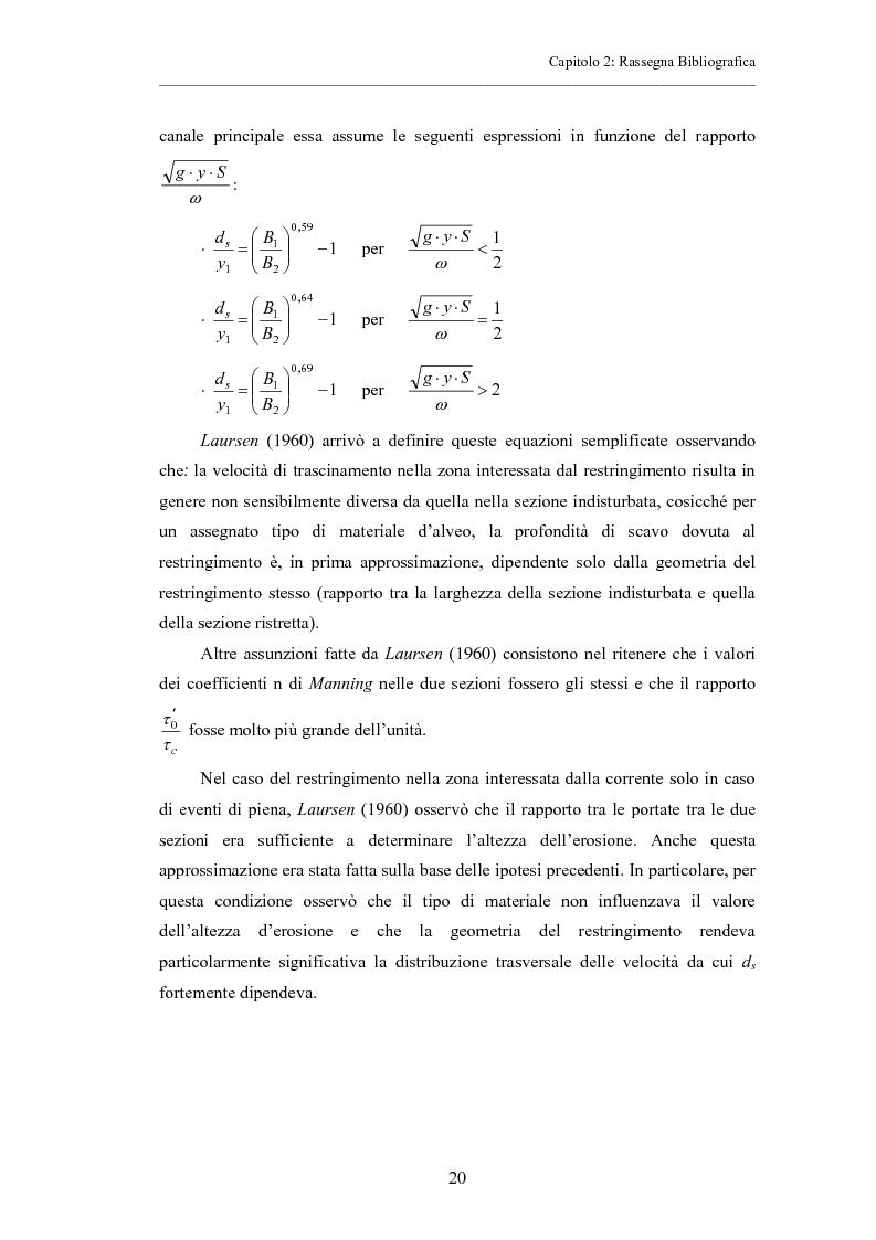 Anteprima della tesi: Indagine sperimentale sull'evoluzione morfologica di un alveo fluviale soggetto a restringimento, Pagina 16