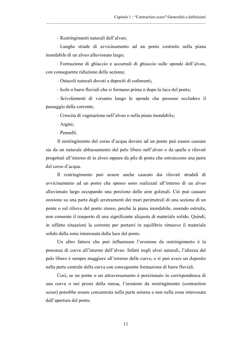 Anteprima della tesi: Indagine sperimentale sull'evoluzione morfologica di un alveo fluviale soggetto a restringimento, Pagina 7