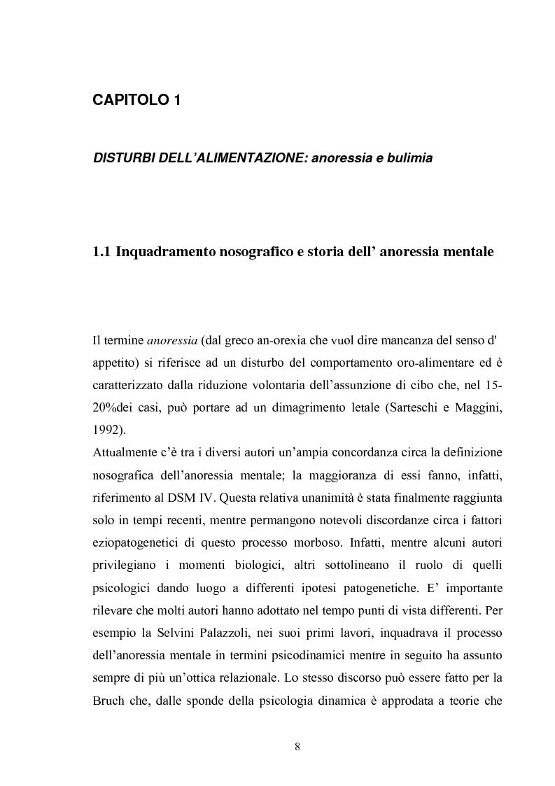 Anteprima della tesi: Il ruolo del padre nell'insorgenza del disturbo alimentare: anoressia e bulimia, Pagina 5