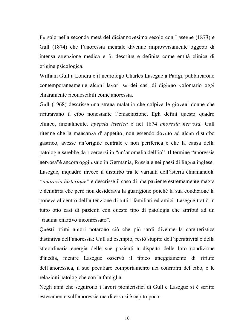 Anteprima della tesi: Il ruolo del padre nell'insorgenza del disturbo alimentare: anoressia e bulimia, Pagina 7
