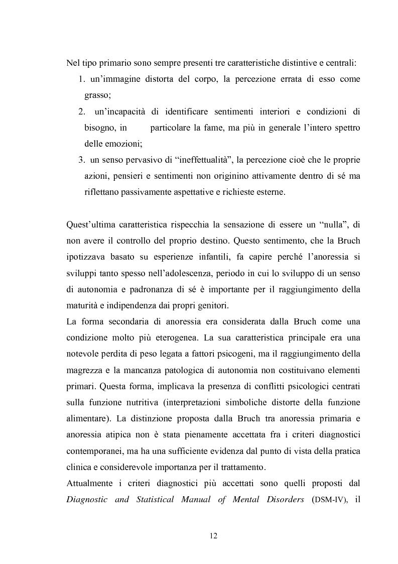 Anteprima della tesi: Il ruolo del padre nell'insorgenza del disturbo alimentare: anoressia e bulimia, Pagina 9