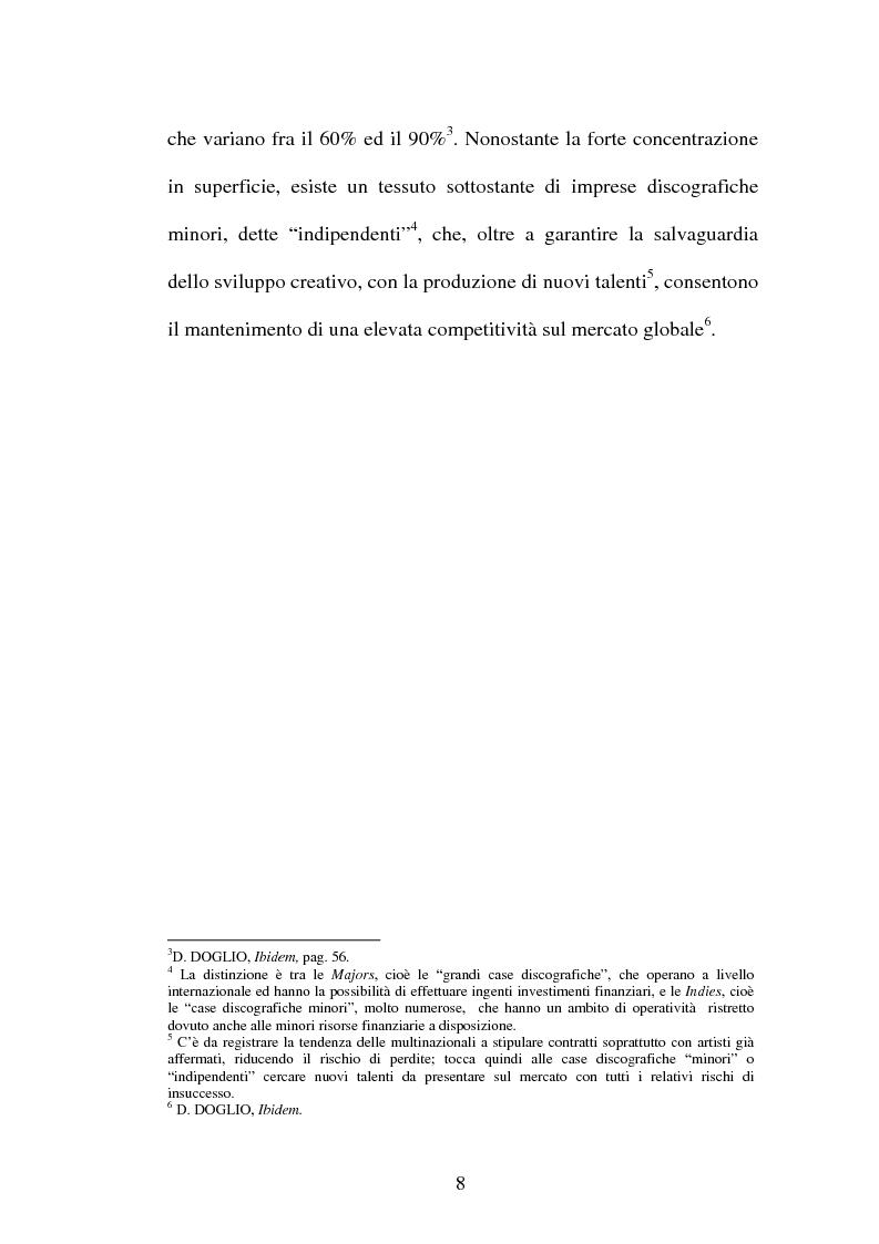 Anteprima della tesi: Il contratto discografico. Profili privatistici, Pagina 8