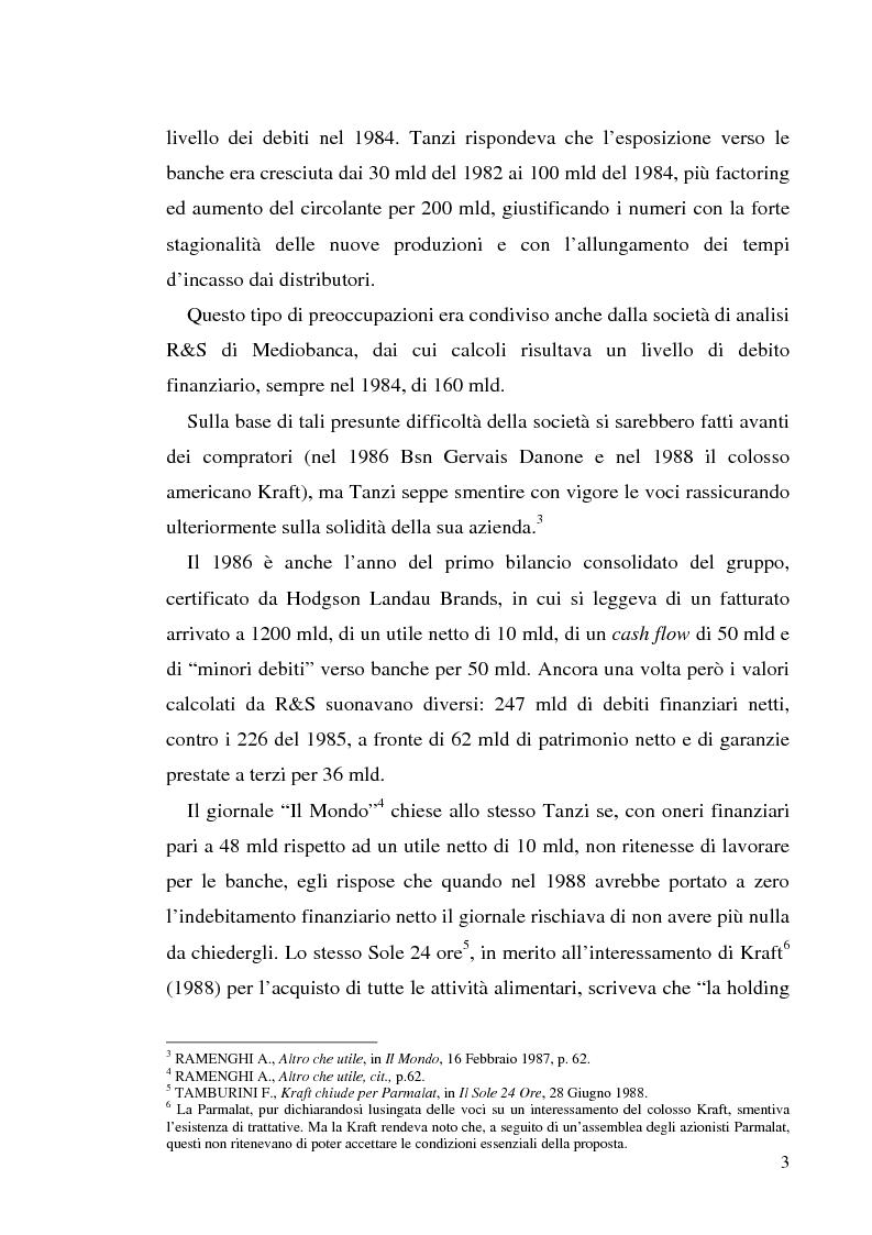 """Anteprima della tesi: Un recente """"disastro"""" finanziario: il caso Parmalat, Pagina 10"""