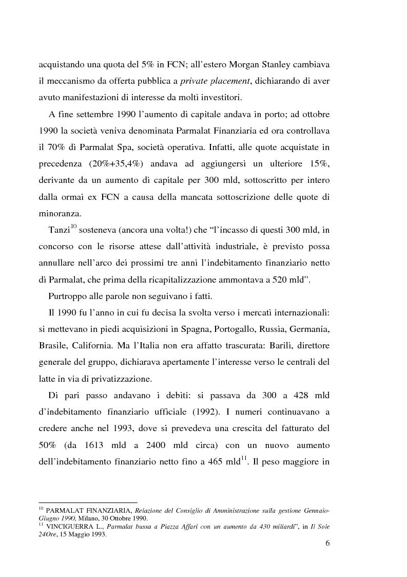 """Anteprima della tesi: Un recente """"disastro"""" finanziario: il caso Parmalat, Pagina 13"""