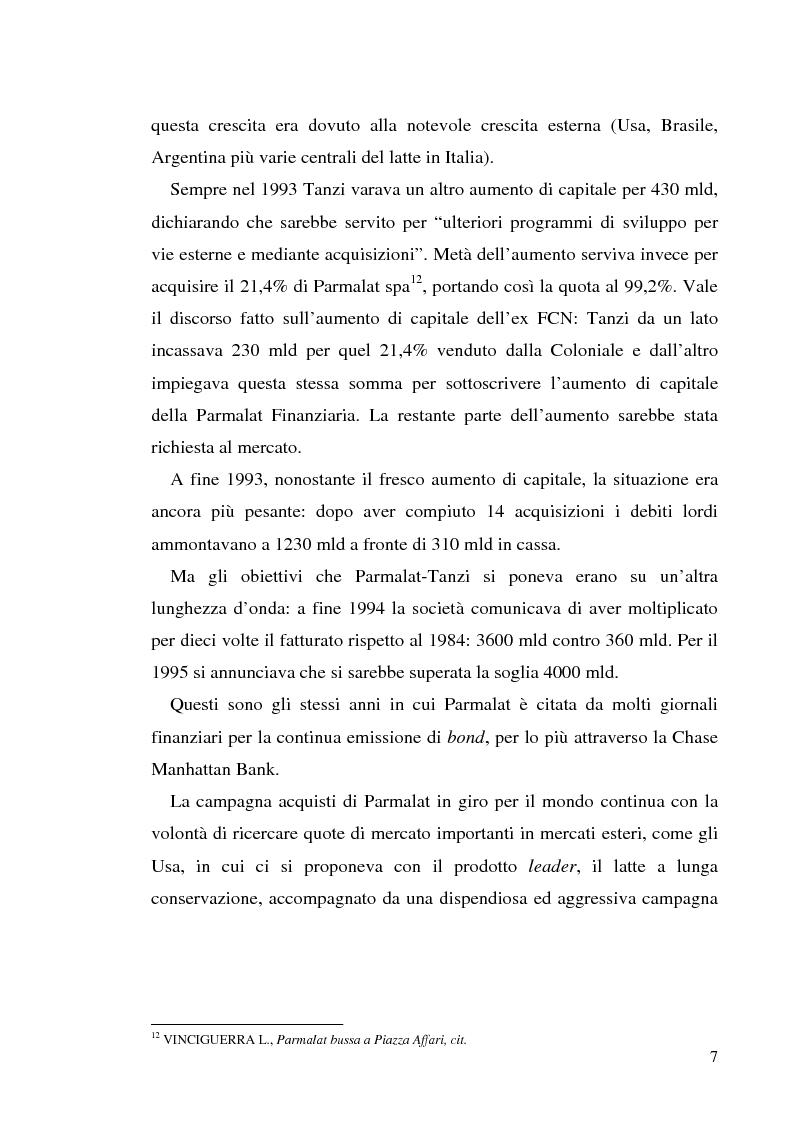 """Anteprima della tesi: Un recente """"disastro"""" finanziario: il caso Parmalat, Pagina 14"""