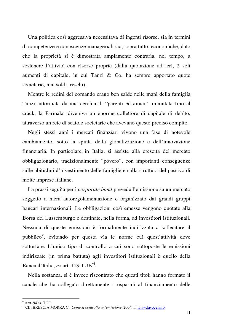 """Anteprima della tesi: Un recente """"disastro"""" finanziario: il caso Parmalat, Pagina 2"""