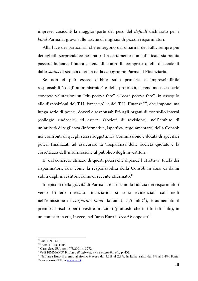 """Anteprima della tesi: Un recente """"disastro"""" finanziario: il caso Parmalat, Pagina 3"""
