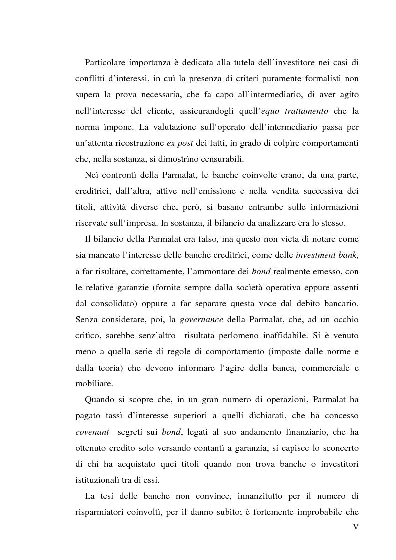 """Anteprima della tesi: Un recente """"disastro"""" finanziario: il caso Parmalat, Pagina 5"""