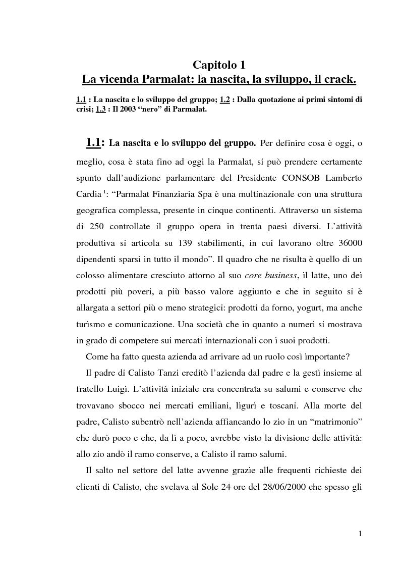 """Anteprima della tesi: Un recente """"disastro"""" finanziario: il caso Parmalat, Pagina 8"""
