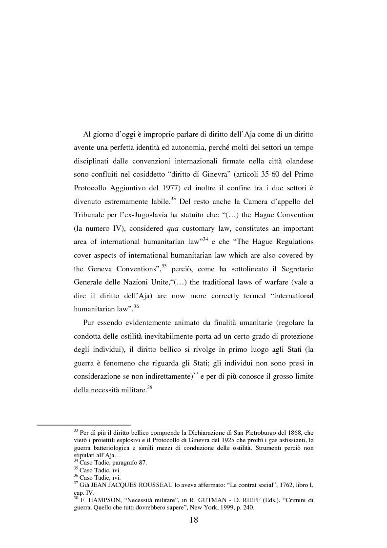 Anteprima della tesi: Le figure criminose previste dallo Statuto della Corte Penale Internazionale a confronto con quelle dello Statuto del Tribunale per l'ex-Jugoslavia, Pagina 12
