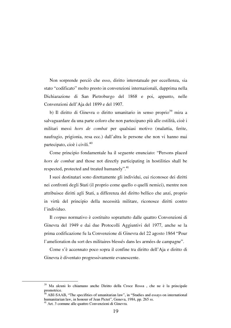 Anteprima della tesi: Le figure criminose previste dallo Statuto della Corte Penale Internazionale a confronto con quelle dello Statuto del Tribunale per l'ex-Jugoslavia, Pagina 13