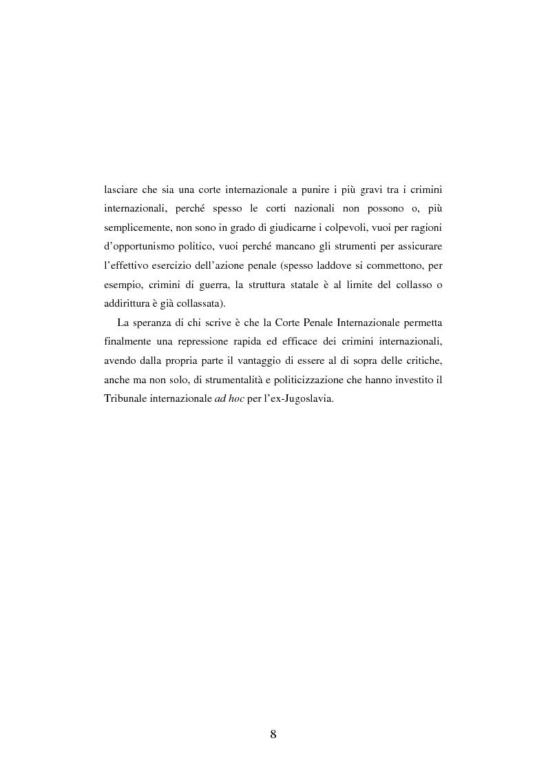 Anteprima della tesi: Le figure criminose previste dallo Statuto della Corte Penale Internazionale a confronto con quelle dello Statuto del Tribunale per l'ex-Jugoslavia, Pagina 2