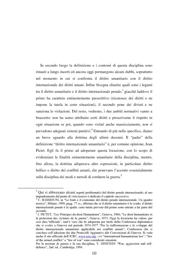Anteprima della tesi: Le figure criminose previste dallo Statuto della Corte Penale Internazionale a confronto con quelle dello Statuto del Tribunale per l'ex-Jugoslavia, Pagina 4
