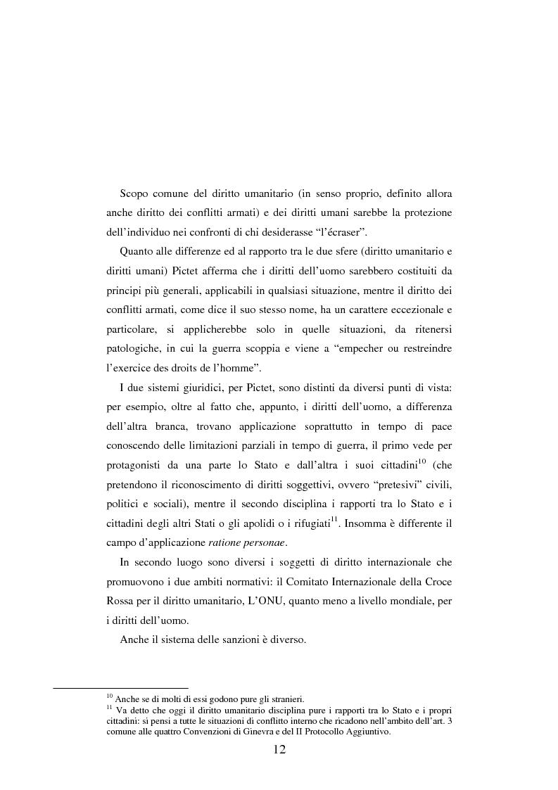 Anteprima della tesi: Le figure criminose previste dallo Statuto della Corte Penale Internazionale a confronto con quelle dello Statuto del Tribunale per l'ex-Jugoslavia, Pagina 6